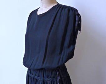 Chanel Creations Black Silk Maxi Dress