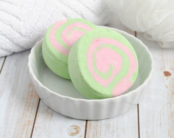 Apple Bubble Bath - Crisp Apple Rose Bubble Bath Bar - Scented Bubble Bar - Handmade Solid Bubble Bath - Wild Orchard Solid Bubble Scoop Bar