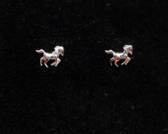 Sterling silver horse earrings, Horse earrings, Cute silver horse earrings, Gift for horse lover, Earrings for children