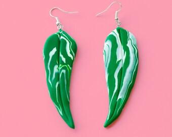 Gum Leaf Earrings - Single or Pair