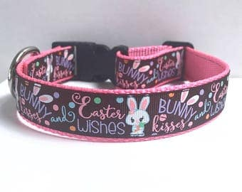 """1"""" Bunny Kisses & Easter wishes Collar"""