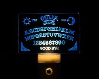 Ouija Board Night Light - Ouija Engraved LED Nightlight - Spirit Board Night Light - Ouija Mystifying Oracle Acrylic LED Nightlight