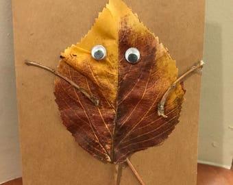 Leaf People Fall Cards