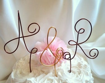 Engagement Party Cake Topper, Your Choice of Initials & Ampersand