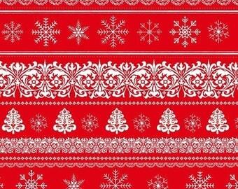 Summer Sale- Joy, Love Peace Border Stripe~Christmas Cotton Fabric by~Studio E~Fast Shipping HC276