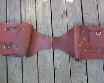 Vintage Saddle Bag - Horse Saddle Bag - Pommel Bag - Leather Bag
