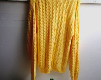Alana yellow cotton jumper