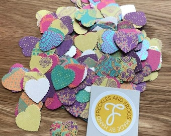 Love Heart Table Confetti | Wedding | Anniversary | Engagement | Vibrant | Boho Chic | Floral