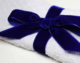 36mm  wide Luxury Velvet Ribbon   NAVY  BLUE   per metre; High End Quality.  Weddings, Dressmaking, Crafts etc