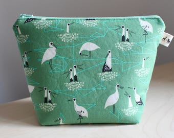 Mini Project Bag - Mint Pipers