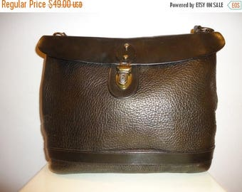 The SALE Is On SALE Must See Beautiful Vintage Dk.Gray/Pewter Leather Shoulder Bag  (10% Off Coupon at Checkout)