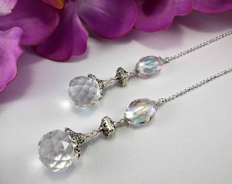 Set of Two, Crystal Ceiling Fan Pulls, Crystal Fan Pull, Fan Pull, Light Pull, Crystal Light Pull, Lamp Pull, Crystal Lamp Pull, Ball Chain