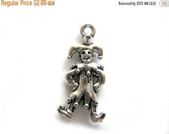 HALF PRICE 6 Silver Jester Charms