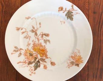 Vintage 7 Piece Dessert Set ~ 6 Salad/Dessert Plates with 1 Matching Cake Plate Round Platter