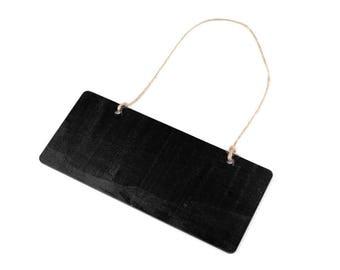 18 cm hanging slate black panel