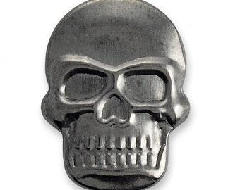 Hot Fix Skull Nailhead by 50 PCS, 1/2'' x 5/8'', Gunmetal, Gold, Silver, TR-10861