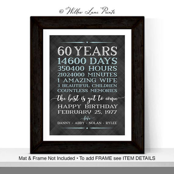 60th Birthday Gifts For Men Him Husband Adult Gift Ideas