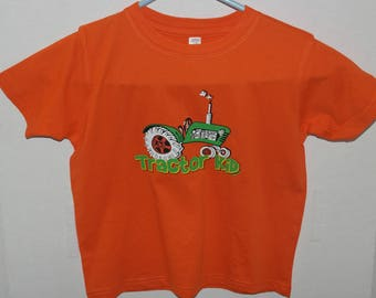 Tractor Kid, Kids T- Shirt