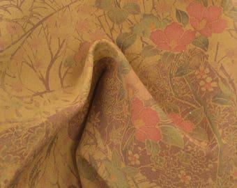 "Oriental Vintage Garden Leather Pig Hide 12"" x 12"" Pre-Cut 1 oz TA-56807 (Sec. 5,Shelf 2,B)"