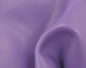 "Graceful Pansy Purple ""Signature"" Leather Cow Hide 4"" x 6"" Pre-cut 2-3 oz flat grain TA-58538 (Sec. 8,Shelf 6,D,Box 3)"