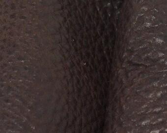 """NZ Deer Sale Rainforest Brown Leather New Zealand Deer Hide 12"""" x 12"""" Pre-cut 4-5oz-5 DE-66095  (Sec. 5,Shelf 7,D)"""