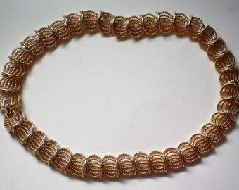 Napier Gold tone Link Choker Necklace - 5393
