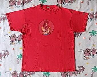 Vintage 90's Hook-Ups T shirt, size XL skate tee 90's skateboarding Anime Thrashed