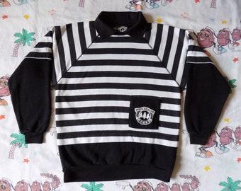 Vintage 80's Whispering Pines Striped pullover Sweatshirt, size Medium raglan