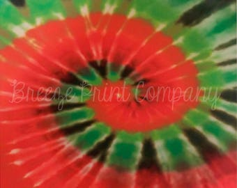 Tie Dye red and green Christmas pattern craft  vinyl sheet - HTV or Adhesive Vinyl -  HTV2501