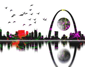 "Limited Edition Print.  "" St. Louis "" Digital painting, Wall art, Painting. Art print"