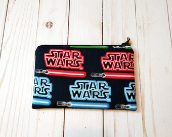 Star Wars Lightsaber Small Zippered Pouch