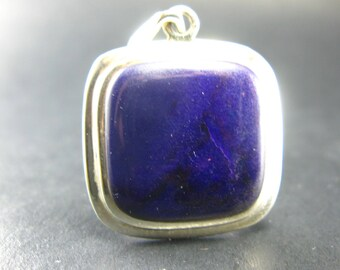 """Sugilite Silver Pendant From South Africa - 1.7"""""""