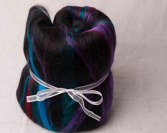 Beautiful Alpaca, Silk and Bamboo Large Batt, perfect for spinning (170113)