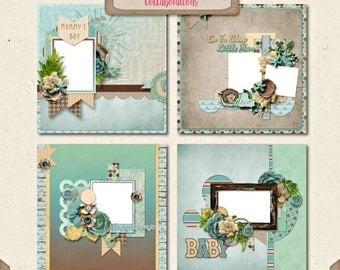 Difital Scrapbooking, Baby Boy Quick Page Set 2: You're My Lil' Boy