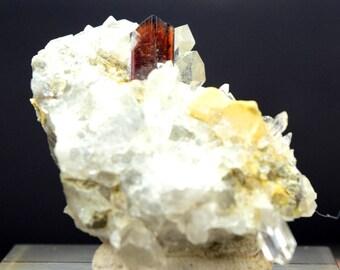30 Gram Rare Brookite With Quartz Specimen From Balochistan Pakistan ; 46*31*23 mm