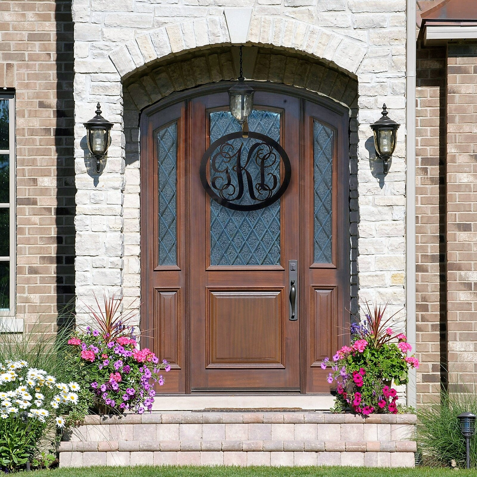 Monogram Front Door Decoration: 3 Initial Monogram , Monogram Door Hanger, Monogrammed