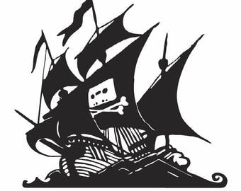 The Pirate Bay SVG and PDF file clipart, decal, logo, cut or print