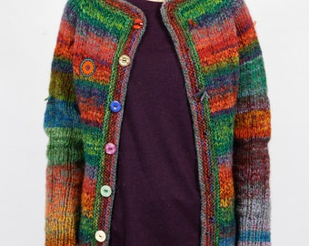 Hand knitted double-sided design cardigan
