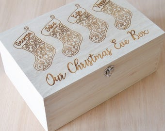 Christmas Eve Box - Personalised Christmas Box - Xmas Eve Box - Personalized Wooden Box - Christmas Eve Gift - Merry Christmas