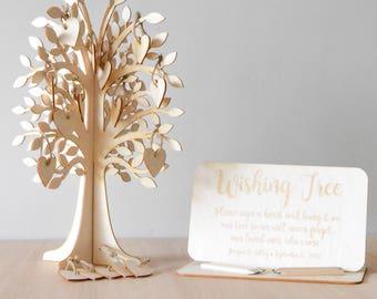 Wishing Tree - Rustic Wedding Tree Sign - Woodland Wedding - Wishing Tree Tags - Wedding Wishing Tree Tags - Wedding Guest Book