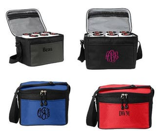 Monogrammed 6 pack beer cooler! Perfect Groomsman gift!