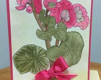 Handmade Greeting Card Thinking of you
