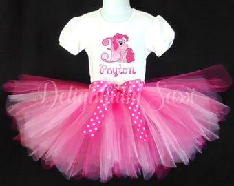 My Little Pony Tutu Set, Pinkie Pie, Pink Tutu Set, Girls Birthday Tutu, Birthday Tutu, Pink Tutu, Personalized Tutu Set