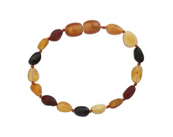 Genuine Baltic Amber Teething Bracelet (ATBU-Multi)