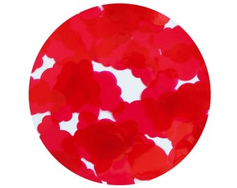 Cloud Vinyl Shape Top Hole 1.5 inch Raspberry Pink Go Go Transparent