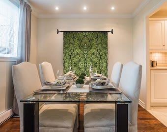 Marijuanna Art, Honey Bear Cannabis Wall Art, Exotic Plant Art,Kaleidoscope Art Prints, Tropical Wall Art Fabric, Large Botanical Print
