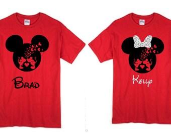 Family Mickey Minnie Shirts, Christmas, Matching Vacation Shirts, Disney  Shirts Vacation, Valentineu0027s