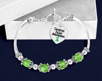 12 Cerebral Palsy Awareness Partial Beaded Bracelets (12 Bracelets) (B-113-13CP)
