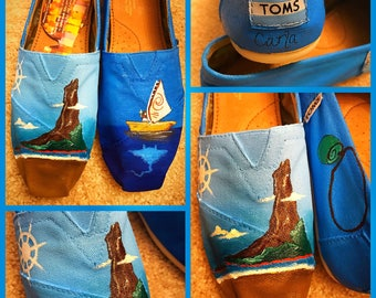 Custom painted Moana Toms. Designed and personalized just for you!