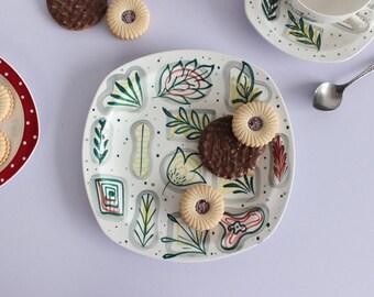 Vintage 1960s Stylecraft, Midwinter Cake Plate in Primavera Design